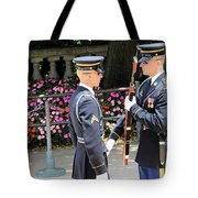 Face To Face During The Changing Of The Guard Tote Bag