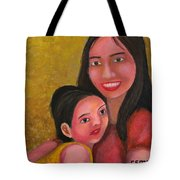 A Moment With Mom Tote Bag
