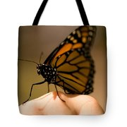 A Monarch Butterfly At The Butterfly Tote Bag
