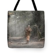 A Monk Reading Tote Bag