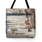 A Morning Snow Tote Bag