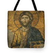 A Mosaic Of Jesus The Christ At St Tote Bag