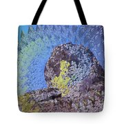 A Mossy Rock  Tote Bag