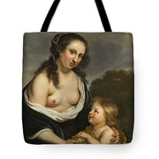A Mother And Her Son In The Guise Of Venus And Cupid Tote Bag
