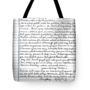 A Mothers Last Words To Her Son Me Tote Bag