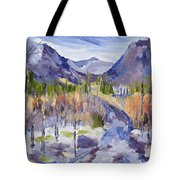 A Mountain Road Tote Bag