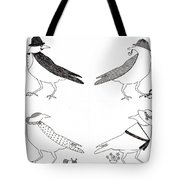 A Murder Of Crows Tote Bag by Ekta Gupta
