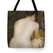 A Naked Woman Seen From Behind Tote Bag