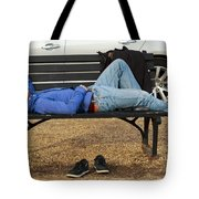 A Nap In The Park Tote Bag