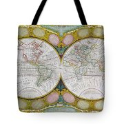 A New And Correct Map Of The World Tote Bag by Robert Wilkinson