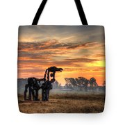 A New Day The Iron Horse Tote Bag