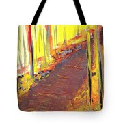 A New Fall Path Tote Bag