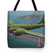 A New Kind Of Bird Over California - Oil Tote Bag