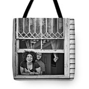 A New Orleans Greeting 2 Bw Tote Bag