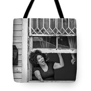 A New Orleans Greeting Bw Tote Bag