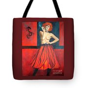 A New Version Of Lisbeth Salander Tote Bag