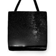 A Night At The Beach 11 Bw Tote Bag