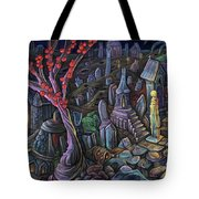 A Night In A Bunny Cemetery Tote Bag