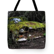 A Non Rolling Car Gathers Some Moss Tote Bag