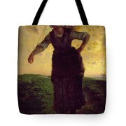 A Norman Milkmaid At Greville Tote Bag