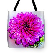A Painted Dahlia Tote Bag