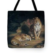 A Pair Of Leopards Tote Bag