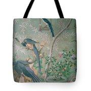 A Pair Of Magpie Jays  Vintage Wallpaper Tote Bag