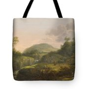 A Pair Of Mountain Landscapes With Staffage Tote Bag