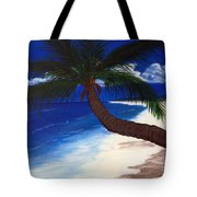 A Palm On The Coast Tote Bag
