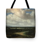 A Panoramic Landscape With A Country Estate Tote Bag