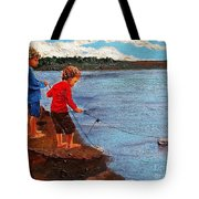 A Paper Boat Floated To An Open Sea  A World Separating You And Me Tote Bag