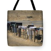 A Parade Of Mailboxes On The Outskirts Tote Bag