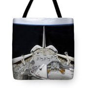 A Partial View Of Space Shuttle Tote Bag by Stocktrek Images