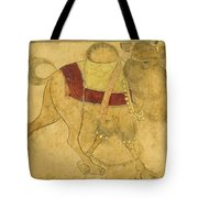 A Partially Coloured Drawing Of A Strutting Camel Tote Bag