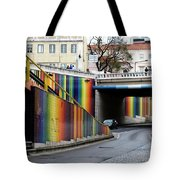 A Throughway Of Many Colors Tote Bag by Lorraine Devon Wilke