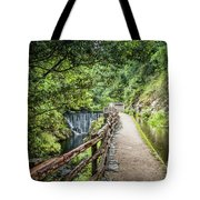 A Path Between Two Waters Tote Bag