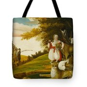 A Peaceable Kingdom With Quakers Bearing Banners Tote Bag