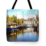 A Peaceful Canal Scene - The Netherlands L B Tote Bag