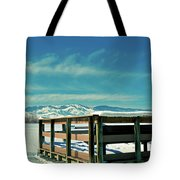 A Peaceful Pier Tote Bag