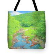 A Peaceful Summer Day In Southern Vermont. Tote Bag