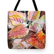 A Peach Of A Poinsettia Tote Bag