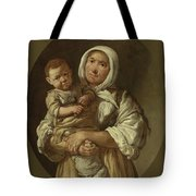 A Peasant Mother With Her Child In Her Arms Tote Bag