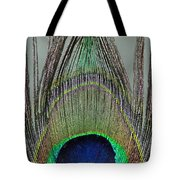 A Peek At A Peacock Feather Tote Bag