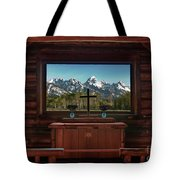 A Pew With A View Tote Bag