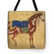 A Piebald Stallion Tote Bag