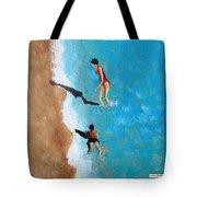 A Piece Of The Beach - Orange Swim Tote Bag