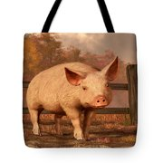 A Pig In Autumn Tote Bag