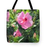 A Pink Hibiscus Tote Bag