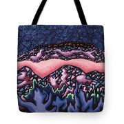 A Pink Line At Night Tote Bag by Dale Beckman