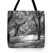 A Place For Contemplation - Black And White Tote Bag